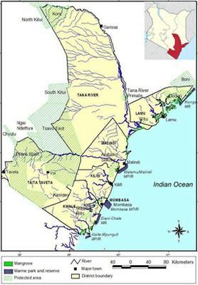 Coastal regions in Kenya