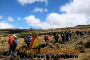 5 Days Mount Kenya climb Sirimon Chogoria route