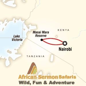 masai mara map - masai mara safarI map